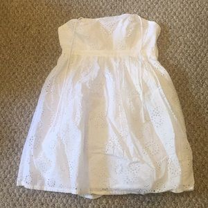 Ladies white mini dress